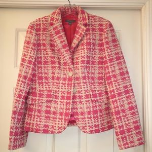 ANN Taylor cotton beige and pink jacket, NWOT, 2P
